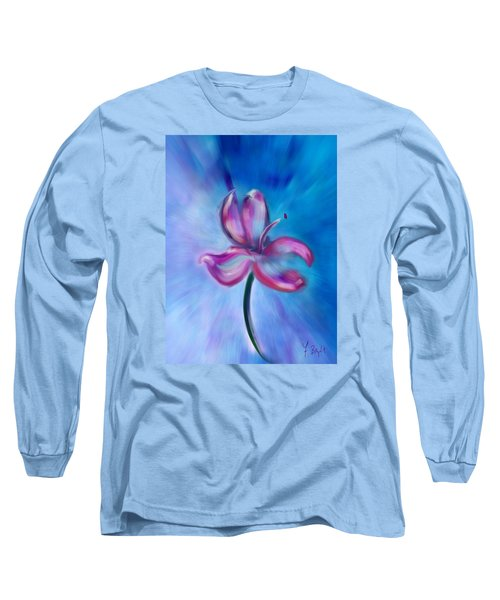 Long Sleeve T-Shirt featuring the digital art Iris In Pastel by Frank Bright