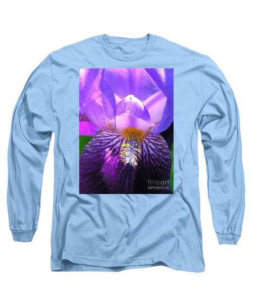 Iris Light Long Sleeve T-Shirt by Susan  Dimitrakopoulos