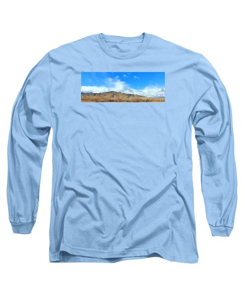 Long Sleeve T-Shirt featuring the photograph It Snowed Last Night by Marilyn Diaz