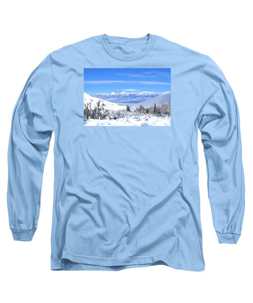 Long Sleeve T-Shirt featuring the photograph It Snowed by Marilyn Diaz
