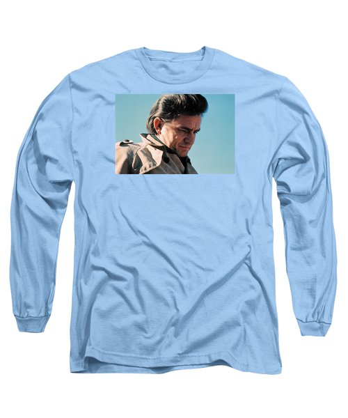 Long Sleeve T-Shirt featuring the photograph Johnny Cash  Music Homage Ballad Of Ira Hayes Old Tucson Arizona 1971 by David Lee Guss