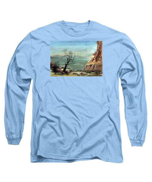 Long Sleeve T-Shirt featuring the painting Jordanian Valley by Mikhail Savchenko