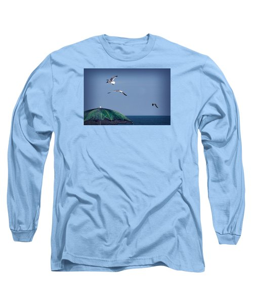 Long Sleeve T-Shirt featuring the photograph Just Another Day At The Beach by Phil Mancuso