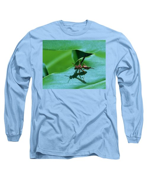 Long Sleeve T-Shirt featuring the photograph Just Me And My Shadow by John Glass