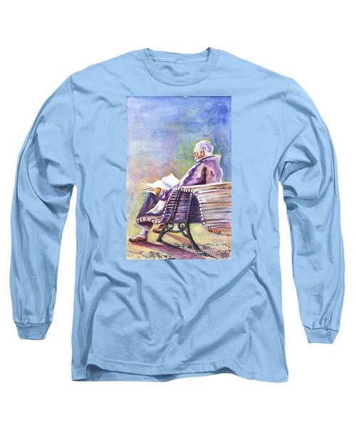 Long Sleeve T-Shirt featuring the painting Just Passing The Time Away by Carol Wisniewski