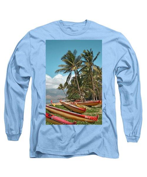 Long Sleeve T-Shirt featuring the photograph Sugar Beach Kihei Maui Hawaii by Sharon Mau