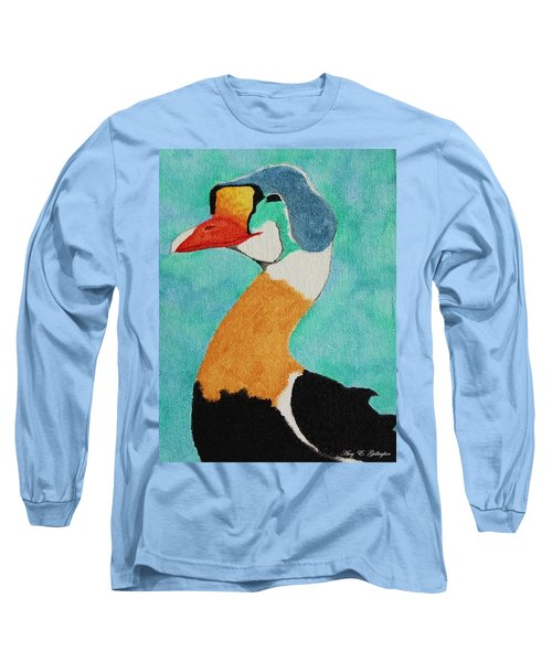 King Eider Long Sleeve T-Shirt by Amy Gallagher