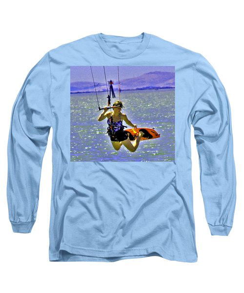 A Kite Board Hoot Long Sleeve T-Shirt