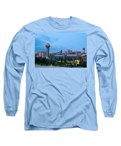 Knoxville At Dusk Long Sleeve T-Shirt by Melinda Fawver