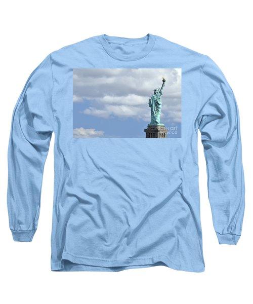 Lady Liberty   1 Long Sleeve T-Shirt by Allen Beatty
