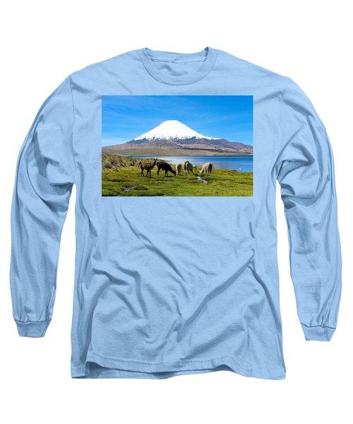 Lake Chungara Chilean Andes Long Sleeve T-Shirt