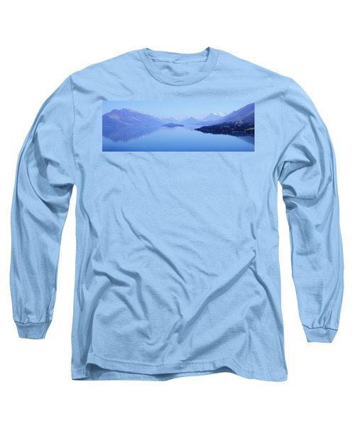 Long Sleeve T-Shirt featuring the photograph Lake Glenorchy New Zealand by Ann Lauwers
