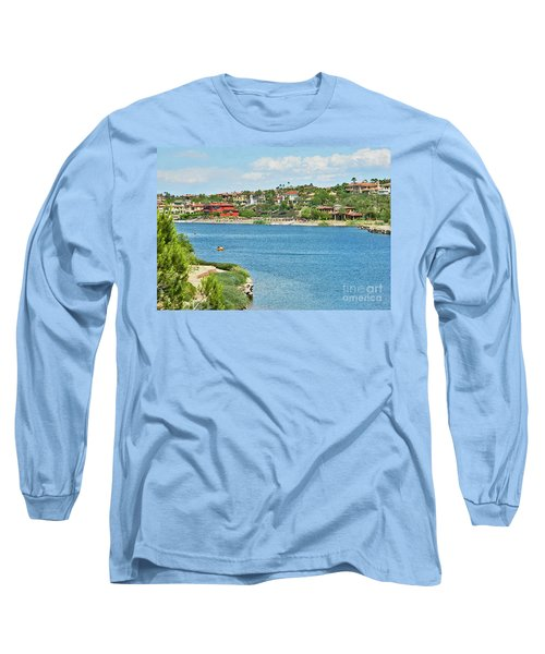 Long Sleeve T-Shirt featuring the photograph Lake Las Vegas In May by Emmy Marie Vickers