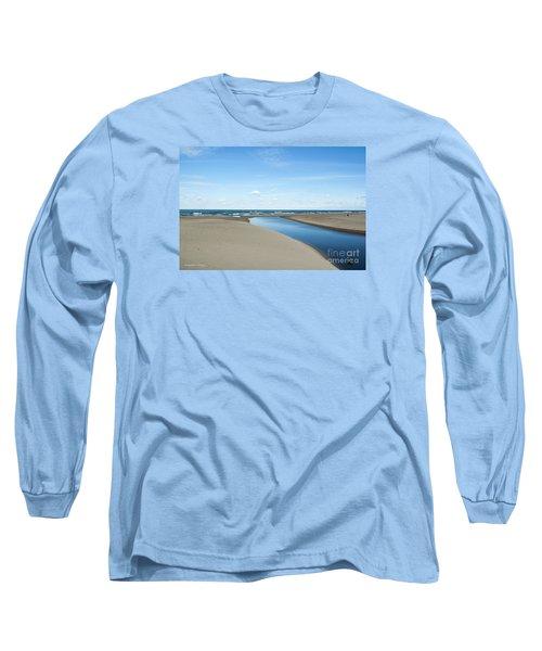 Lake Michigan Waterway  Long Sleeve T-Shirt by Verana Stark