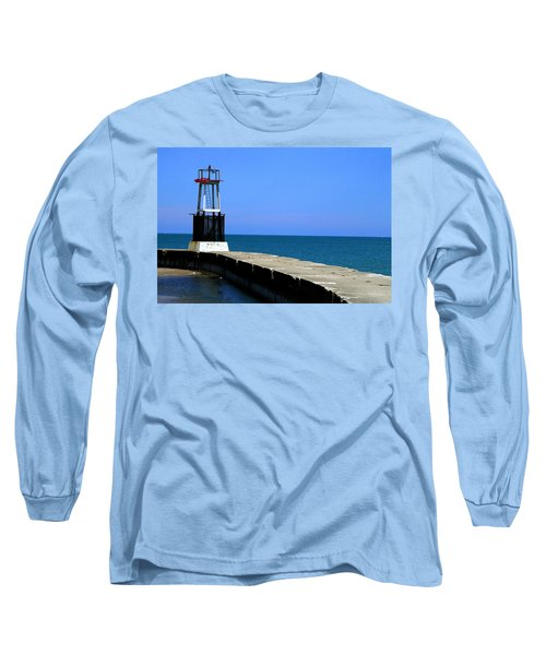 Lakefront Pier Tower Long Sleeve T-Shirt
