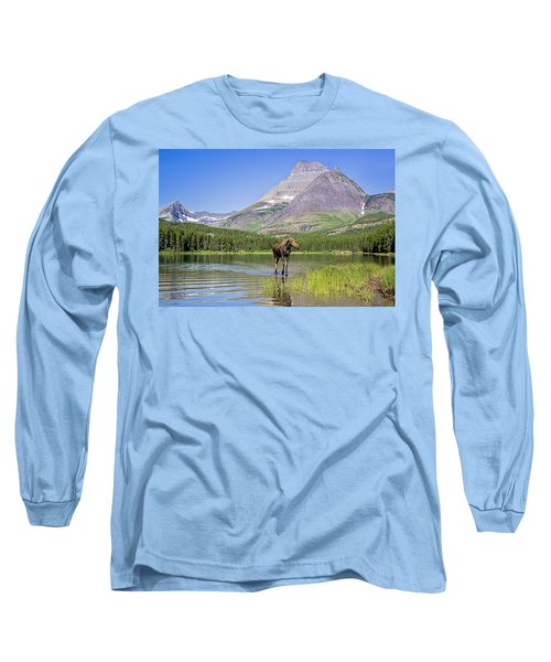 Land Of The Moose Long Sleeve T-Shirt by Jack Bell
