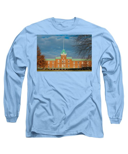 Lane Hall At Virginia Tech Long Sleeve T-Shirt by Melinda Fawver