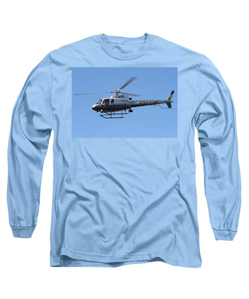 Lapd In Flight Long Sleeve T-Shirt by Shoal Hollingsworth