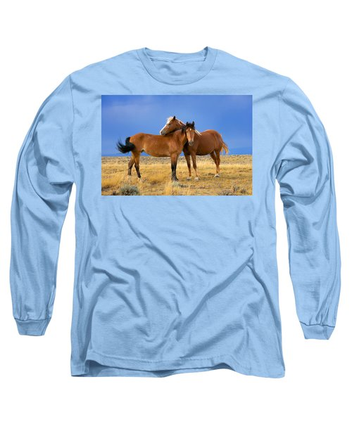 Lean On Me Wild Mustang Long Sleeve T-Shirt