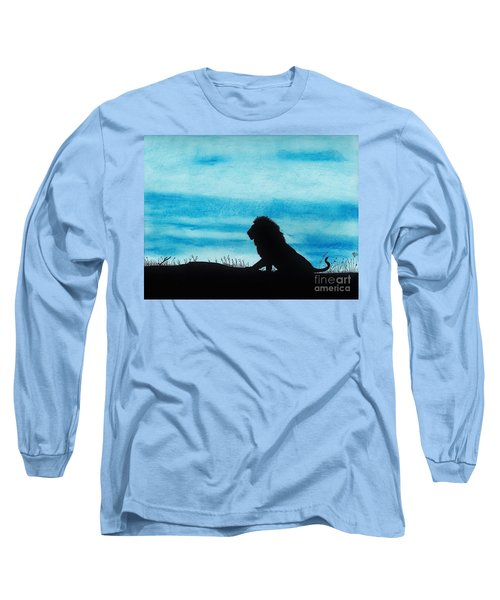 Leo At Sunset Long Sleeve T-Shirt by D Hackett