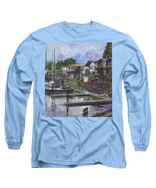 Alameda Life On The Estuary Long Sleeve T-Shirt by Linda Weinstock