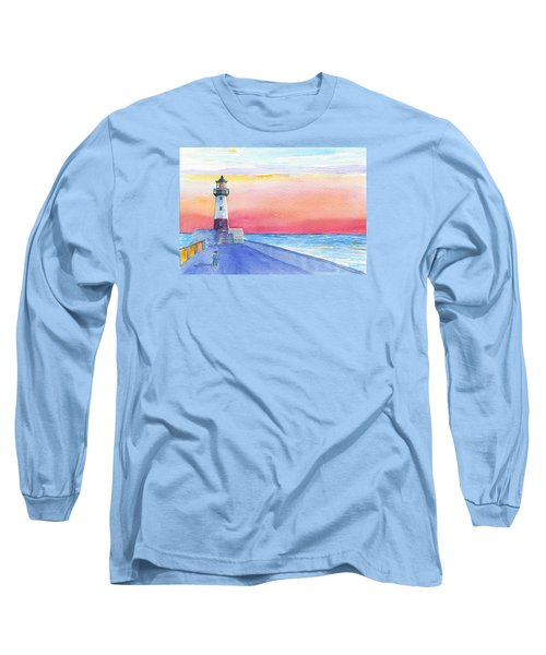 Lighthouse Keeper Long Sleeve T-Shirt by Anne Marie Brown
