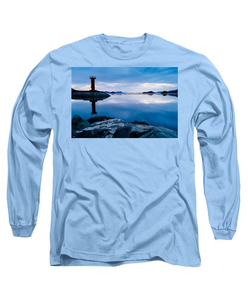 Lighthouse On Blue Long Sleeve T-Shirt