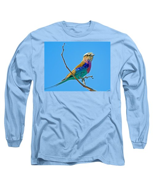 Lilac-breasted Roller In Kruger National Park-south Africa Long Sleeve T-Shirt