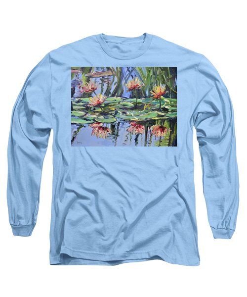 Lily Pond Reflections Long Sleeve T-Shirt