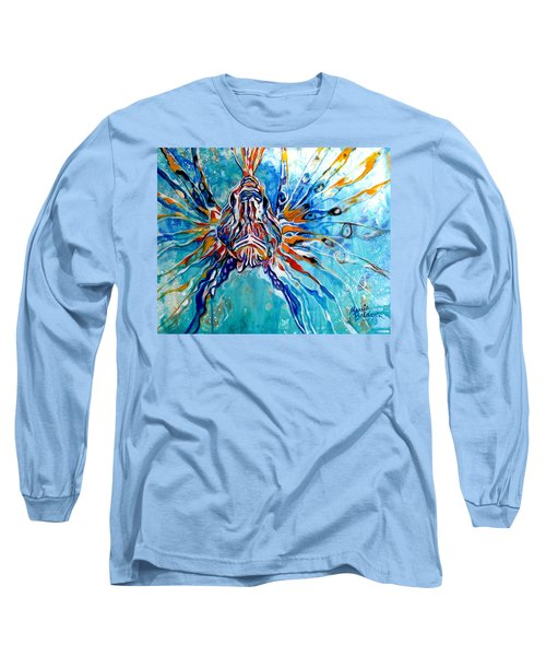 Lion Fish Blue Long Sleeve T-Shirt