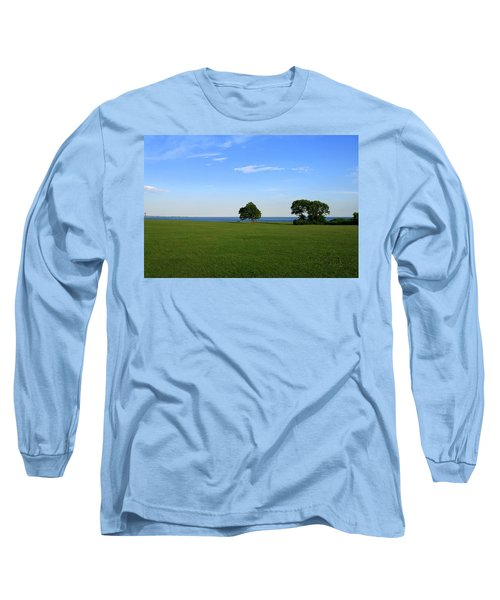 Listening To The Breeze  Long Sleeve T-Shirt by Neal Eslinger