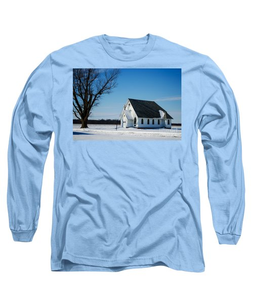 Little Church On The Prairie Long Sleeve T-Shirt by Luther Fine Art