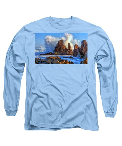 Long Sleeve T-Shirt featuring the painting Little Corona by Michael Pickett