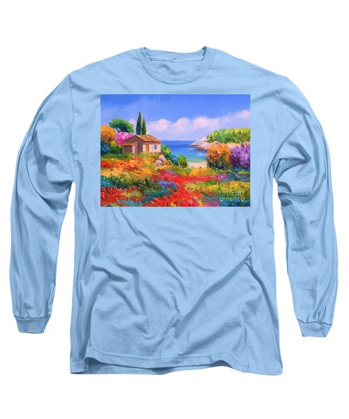 Little House By The Sea Long Sleeve T-Shirt by Tim Gilliland