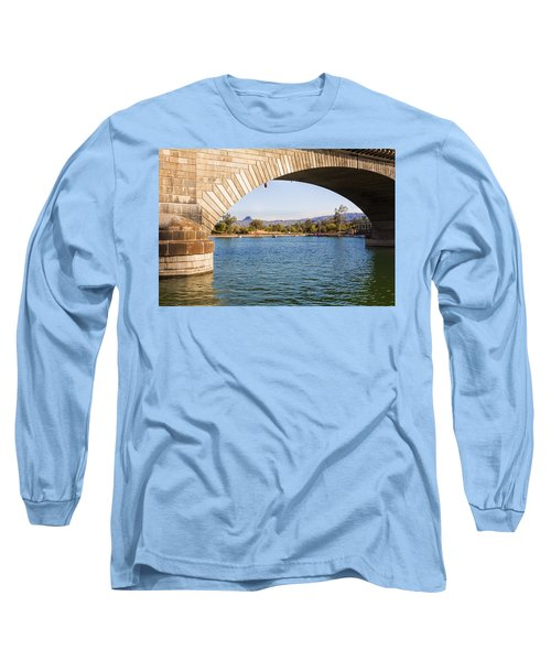 London Bridge At Lake Havasu City Long Sleeve T-Shirt by Fred Larson