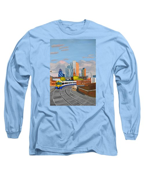 London Overland Train-hoxton Station Long Sleeve T-Shirt by Magdalena Frohnsdorff