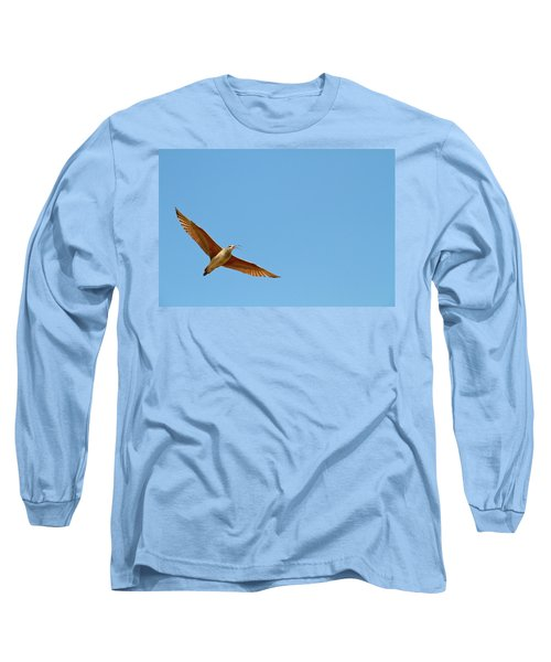 Long-billed Curlew In Flight Long Sleeve T-Shirt