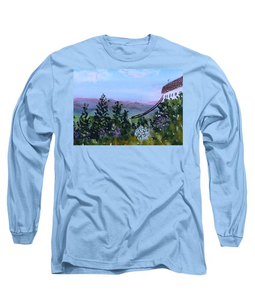 Looking Out From Top Of Jay Peak  Long Sleeve T-Shirt