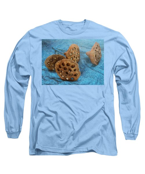 Long Sleeve T-Shirt featuring the photograph Lotus Pods by Diane Alexander