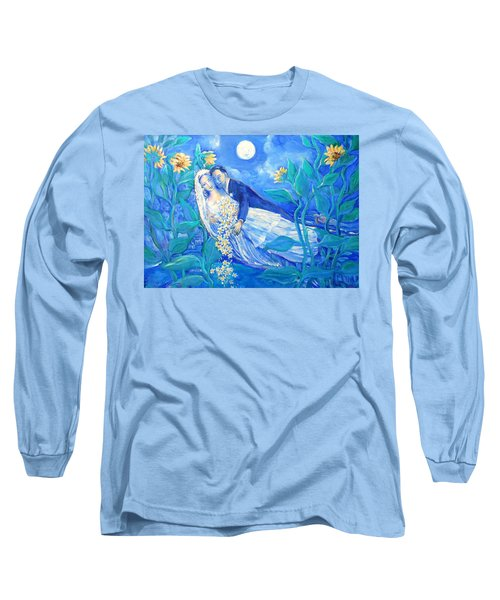 Lovers And Sunflowers  After Marc Chagall  Long Sleeve T-Shirt