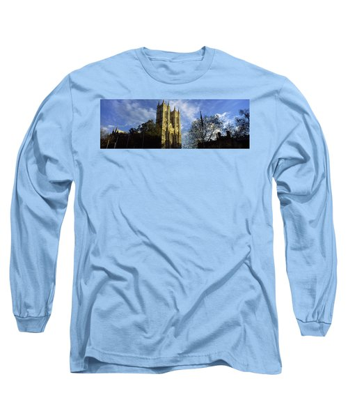 Low Angle View Of An Abbey, Westminster Long Sleeve T-Shirt by Panoramic Images