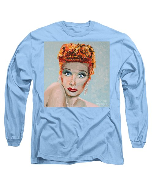 Lucille Ball Portrait Long Sleeve T-Shirt