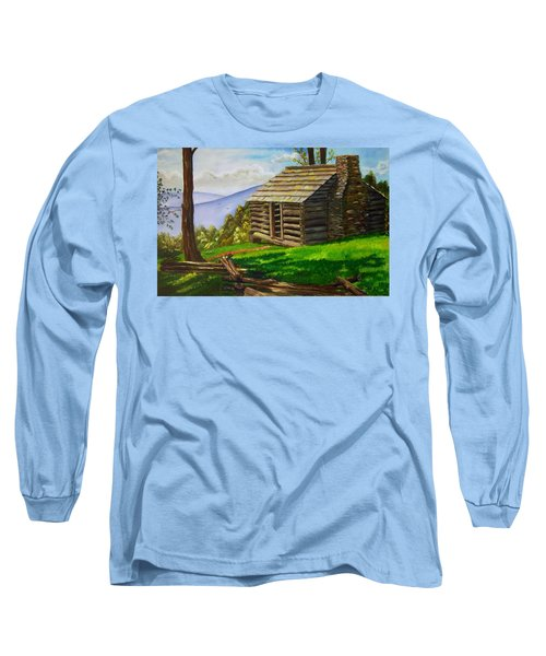 Lunch At An Old Cabin In The Blue Ridge Long Sleeve T-Shirt