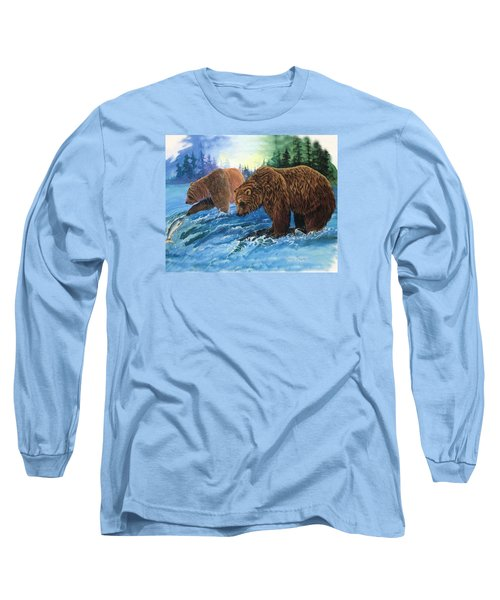 Long Sleeve T-Shirt featuring the painting Lunch Break by Sherry Shipley
