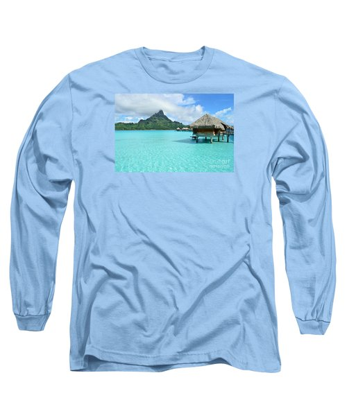Luxury Overwater Vacation Resort On Bora Bora Island Long Sleeve T-Shirt