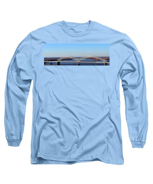Long Sleeve T-Shirt featuring the photograph M Bridge Memphis Tennessee by Barbara Chichester