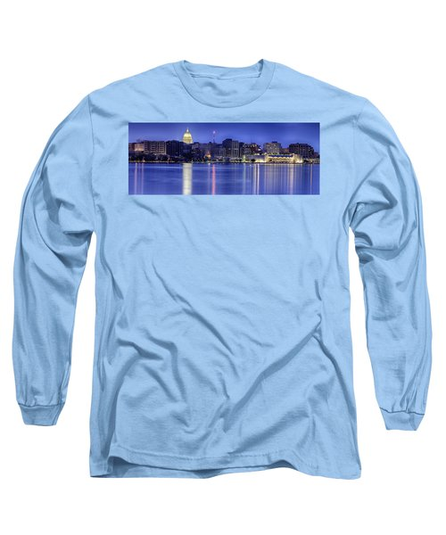 Madison Skyline Reflection Long Sleeve T-Shirt by Sebastian Musial
