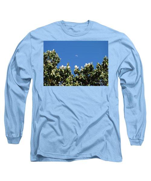 Long Sleeve T-Shirt featuring the photograph Magnolia Moon by Meghan at FireBonnet Art
