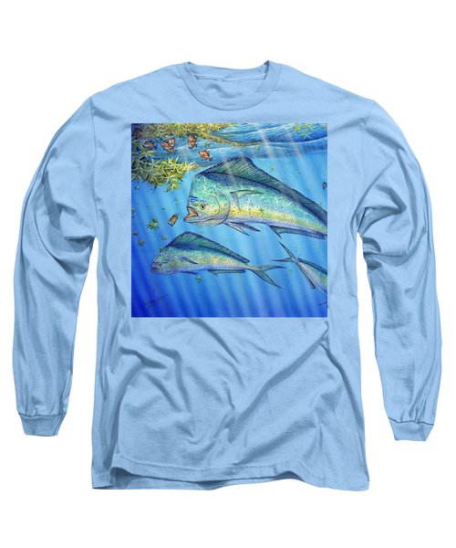 Mahi Mahi In Sargassum Long Sleeve T-Shirt