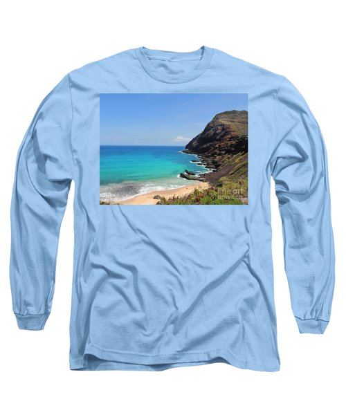 Makapu'u Beach  Long Sleeve T-Shirt by Kristine Merc
